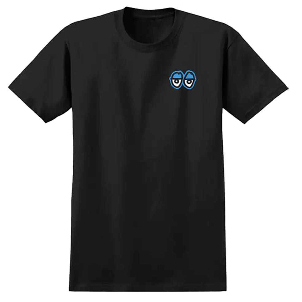 Krooked Straigt Eyes Tee Black/Blue   T-Shirt by Krooked Skateboards 1
