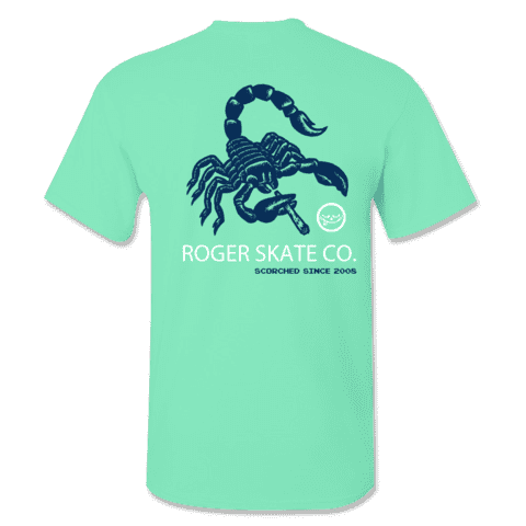 ROGER - Scorched Tee Mint   T-Shirt by Roger Skate Co. 1