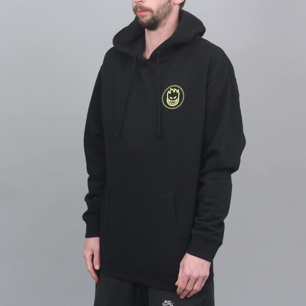 Spitfire Classic Swirl Fade Hood Black / Olive / Yellow   Hoodie by Spitfire Wheels 2