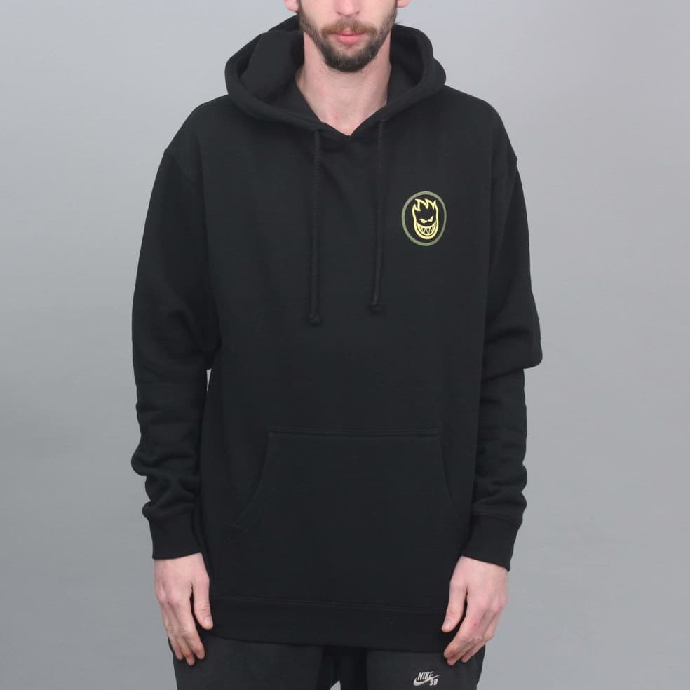 Spitfire Classic Swirl Fade Hood Black / Olive / Yellow   Hoodie by Spitfire Wheels 1