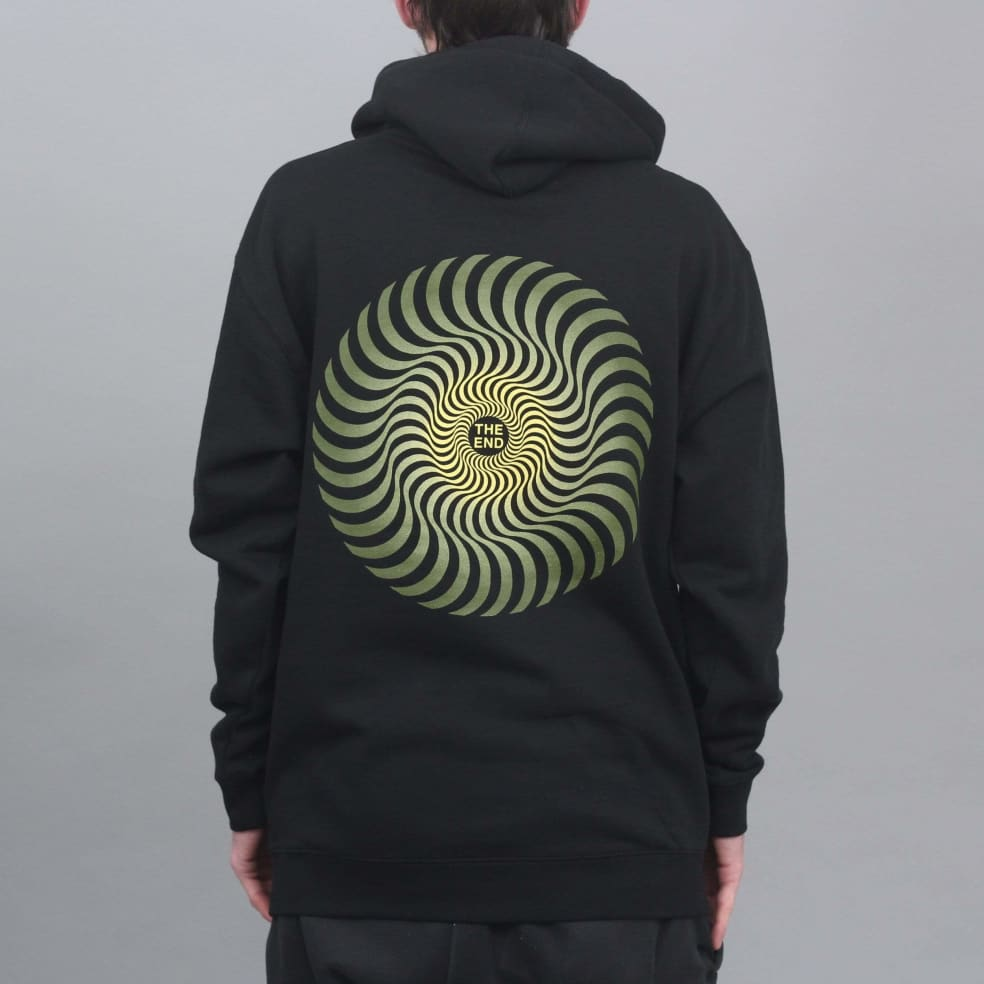Spitfire Classic Swirl Fade Hood Black / Olive / Yellow   Hoodie by Spitfire Wheels 3