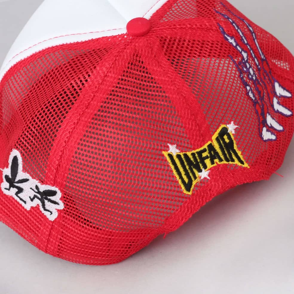 Life Is Unfair Visual FX Trucker Cap Red   Baseball Cap by Life Is Unfair 3