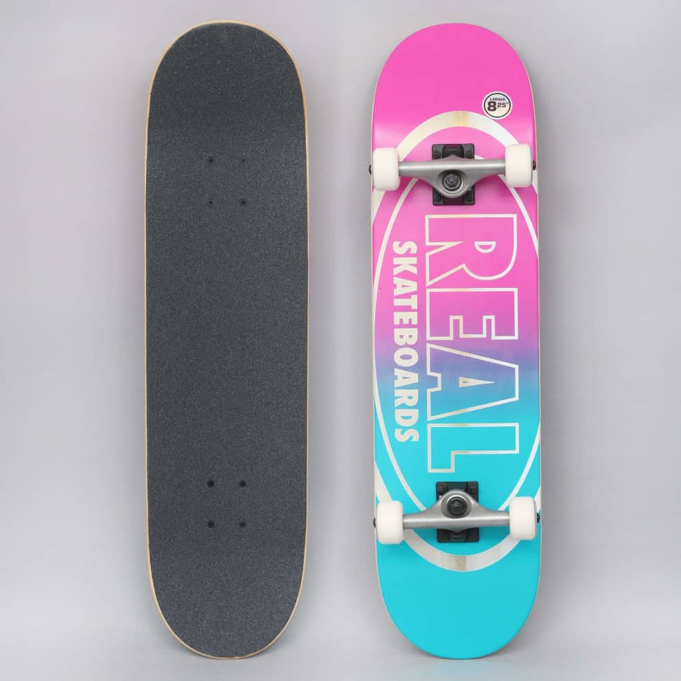 Real 8.25 Golden Oval Outline X-Large Complete Skateboard | Complete Skateboard by Real Skateboards 1