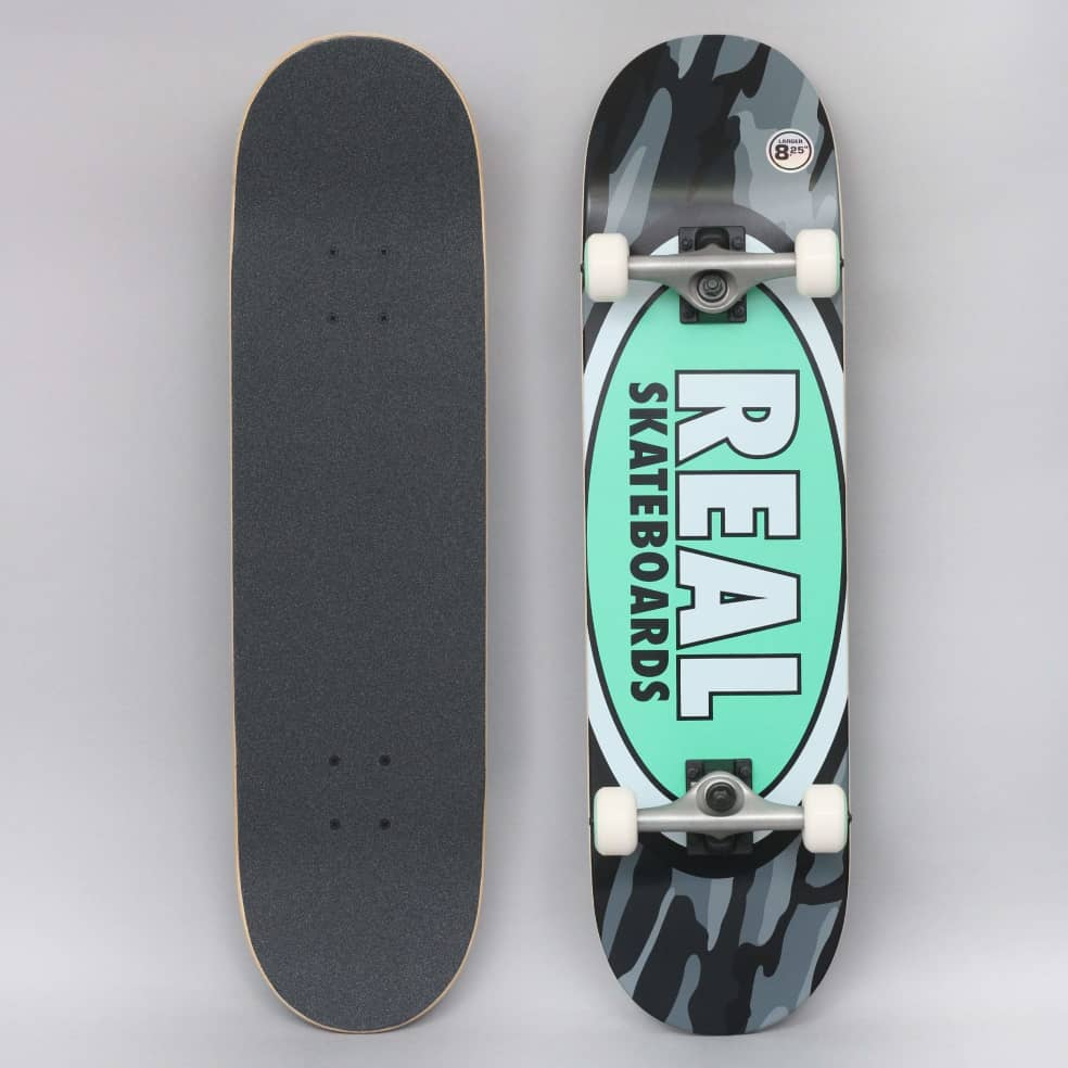 Real 8.25 Team Oval Camo X-Large Complete Skateboard | Complete Skateboard by Real Skateboards 1