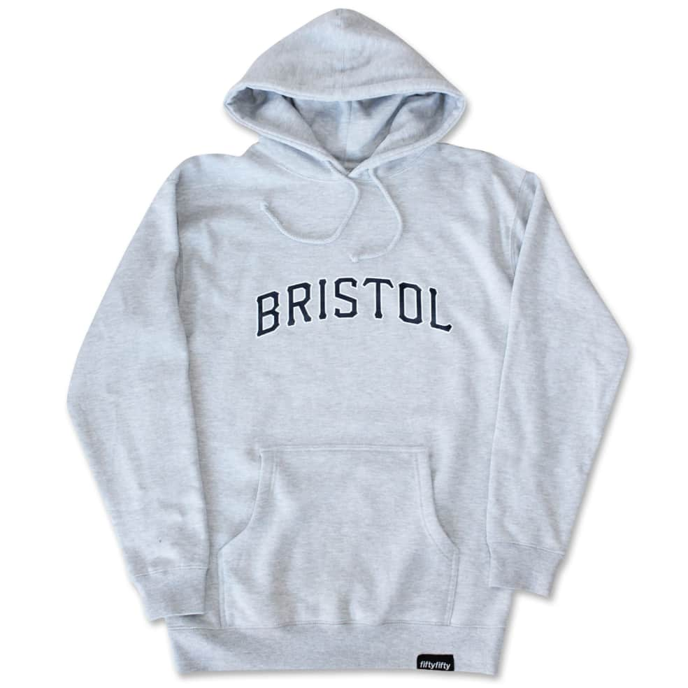 Fifty Fifty Bristol Hood Heather Grey | Hoodie by Fifty Fifty Store 1