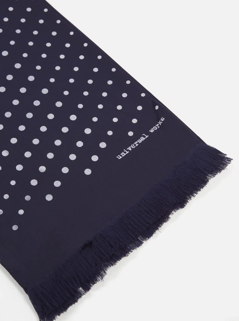 Universal Works Short Scarf - Navy | Scarf by Universal Works 3