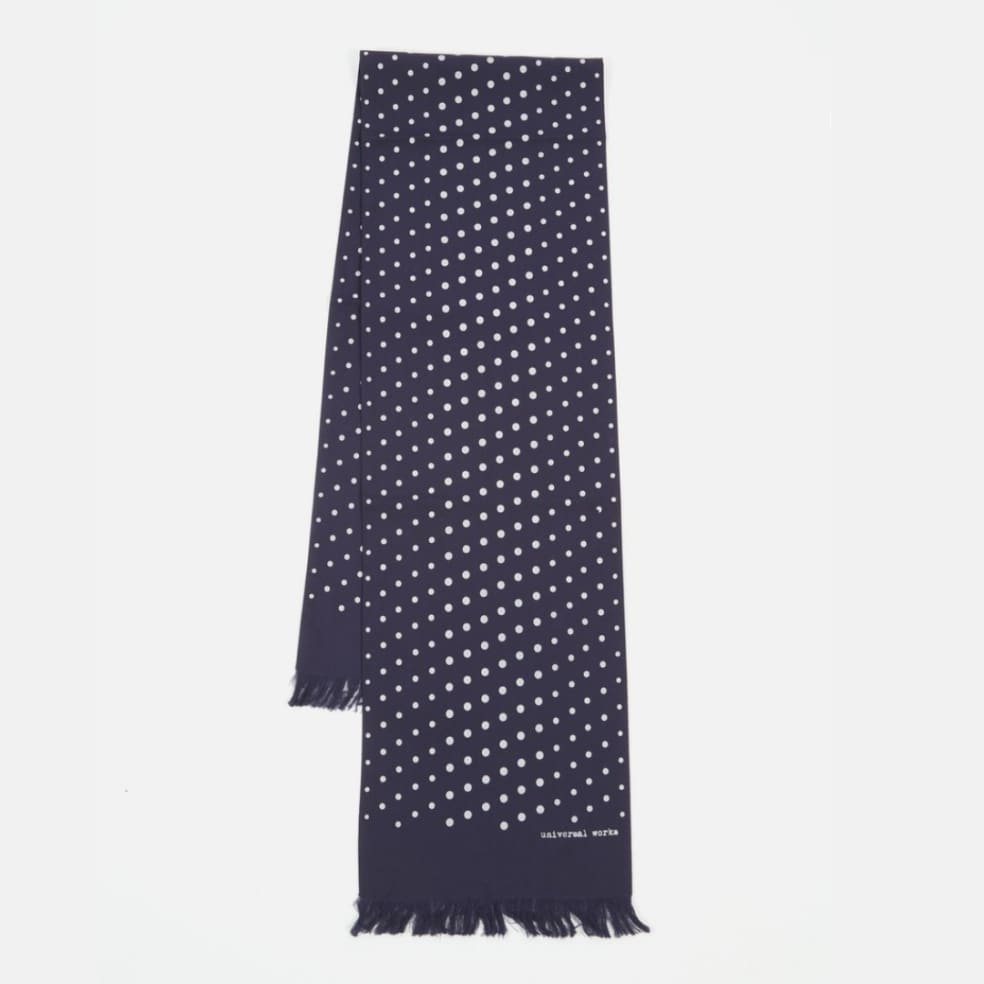 Universal Works Short Scarf - Navy | Scarf by Universal Works 1