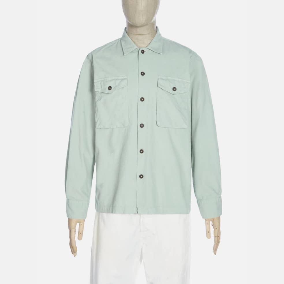 Universal Works Treck Shirt - Cool Green | Shirt by Universal Works 1