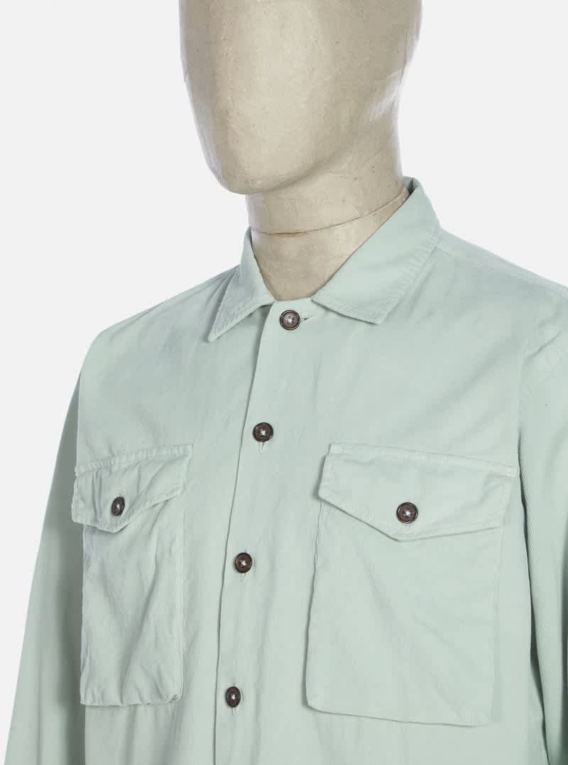 Universal Works Treck Shirt - Cool Green | Shirt by Universal Works 3