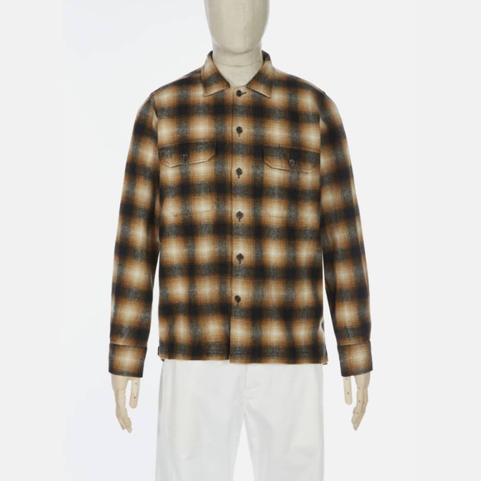 Universal Works Utility Shirt - Brown Check | Shirt by Universal Works 1