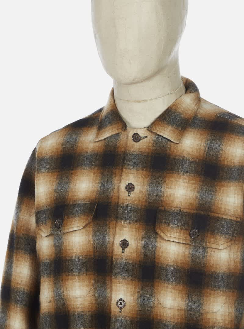Universal Works Utility Shirt - Brown Check | Shirt by Universal Works 3