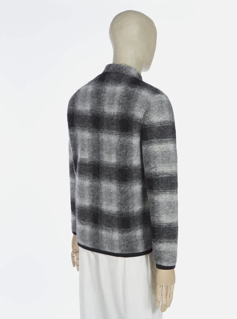 Universal Works Cardigan - Grey / Charcoal   Jacket by Universal Works 3