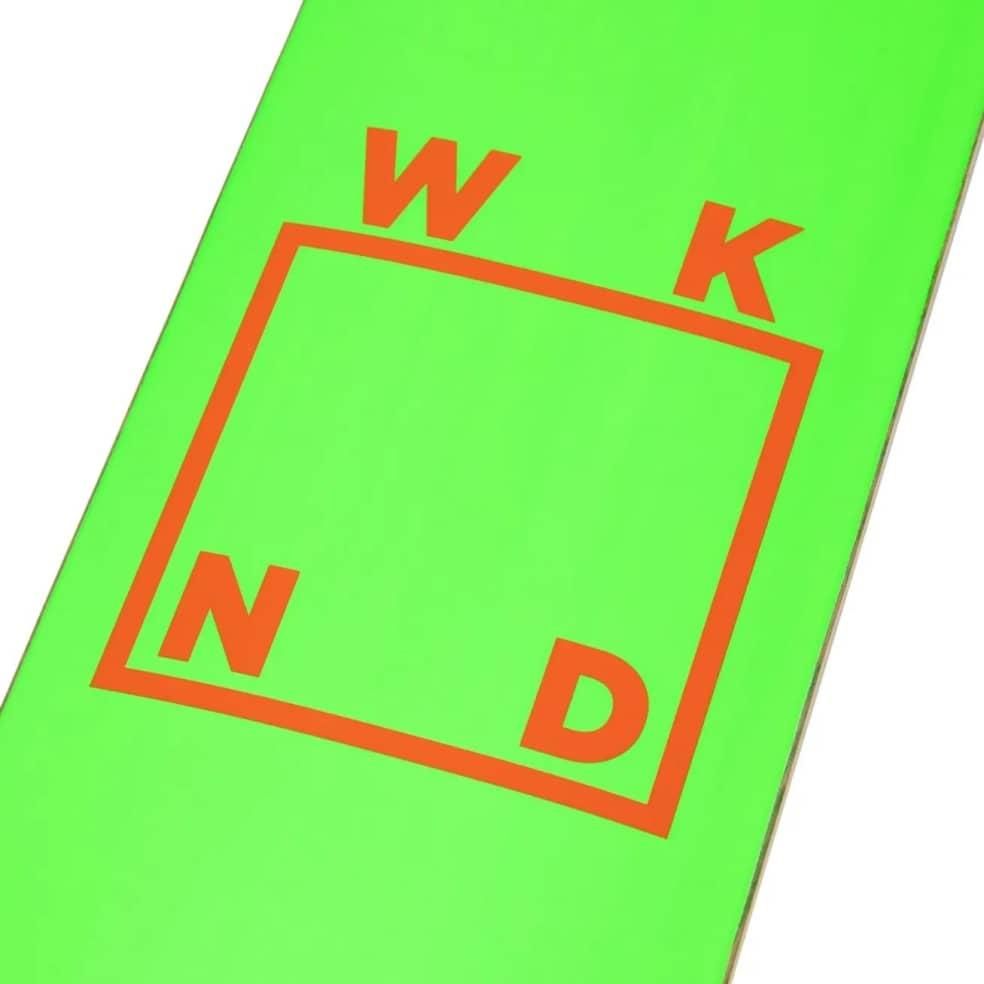 "WKND Logo Green/Orange Deck 8.25"" (Spring '21 Team Deck)   Deck by WKND 2"