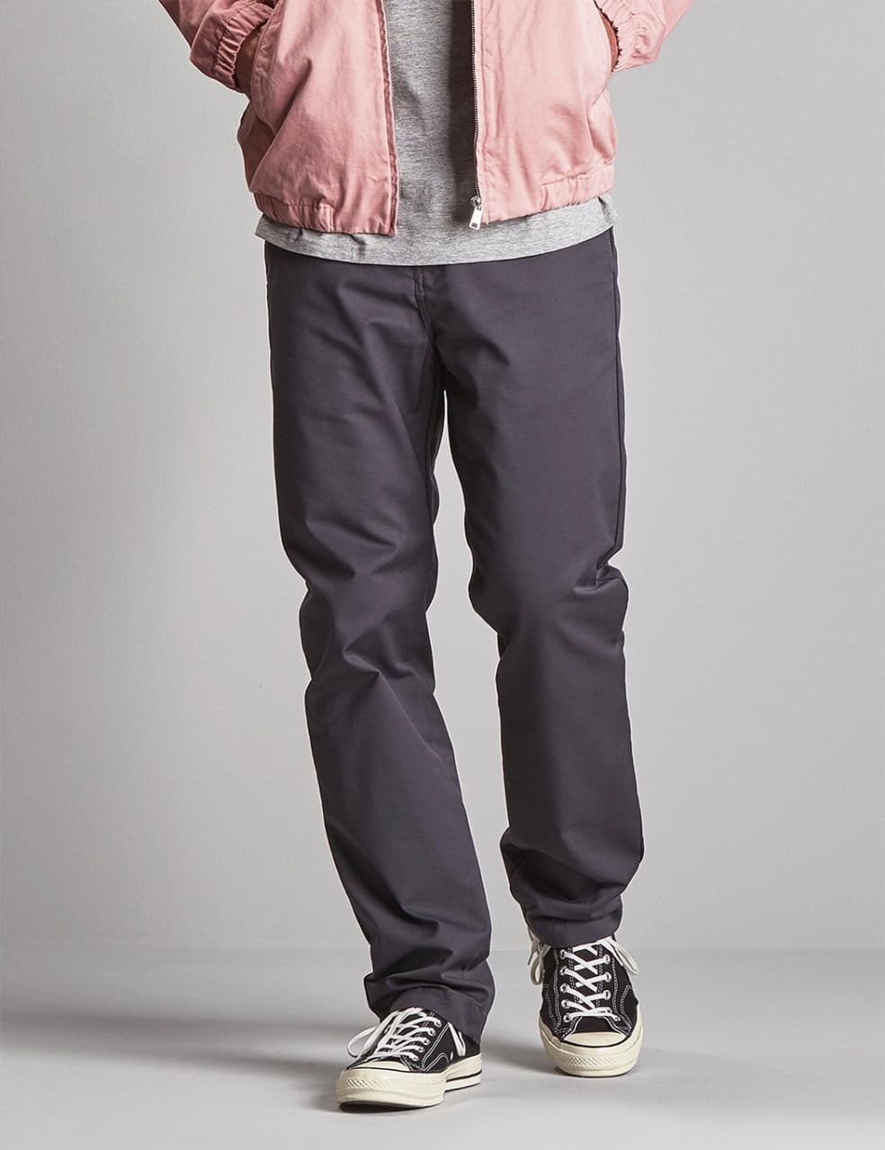 Carhartt-WIP Station Pant - Blacksmith rinsed | Trousers by Carhartt WIP 1