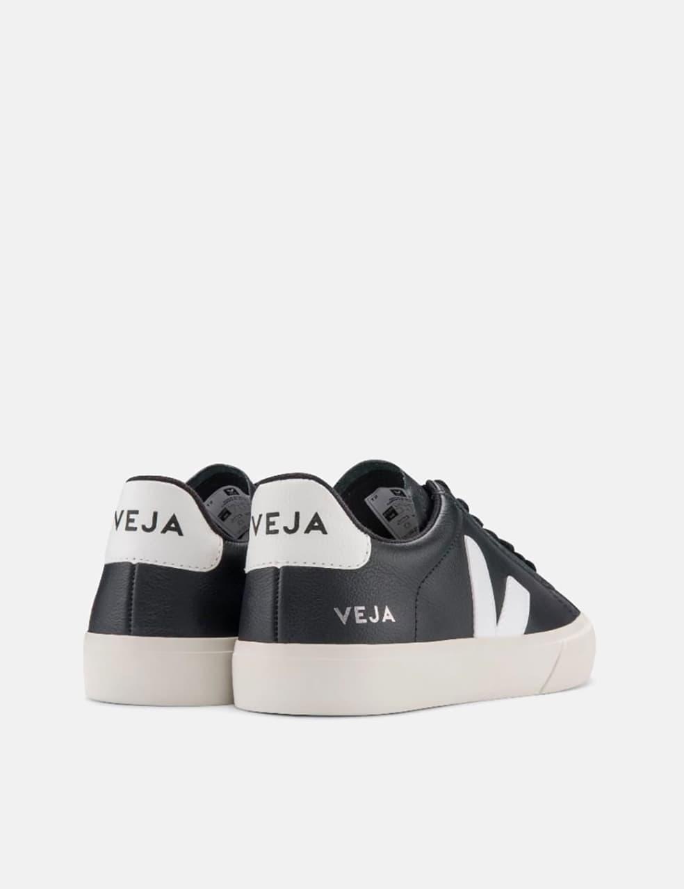 Womens Veja Campo Trainers (Chrome Free) - Black/White | Shoes by VEJA 3
