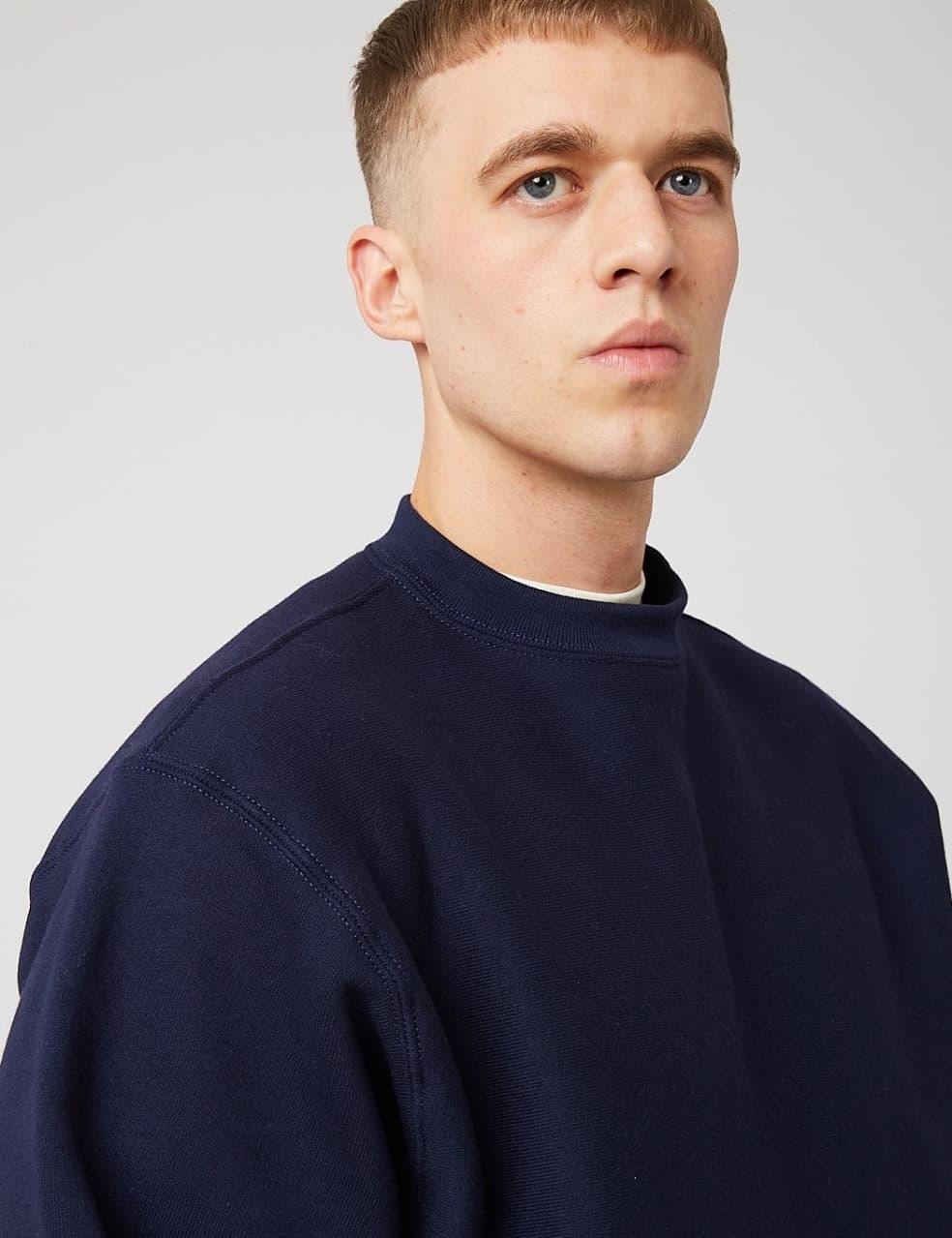 Camber Crew Neck Sweatshirt (12oz) - Navy Blue | Sweatshirt by Camber USA 3