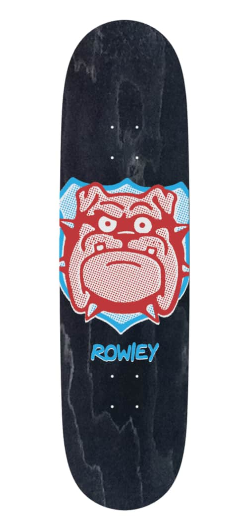 Rowley Pro Bulldog Hand Screened Deck 8.38   Deck by Free Dome Skateboards 2