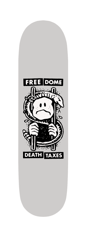 Death & Taxes Deck 8.82   Deck by Free Dome Skateboards 2