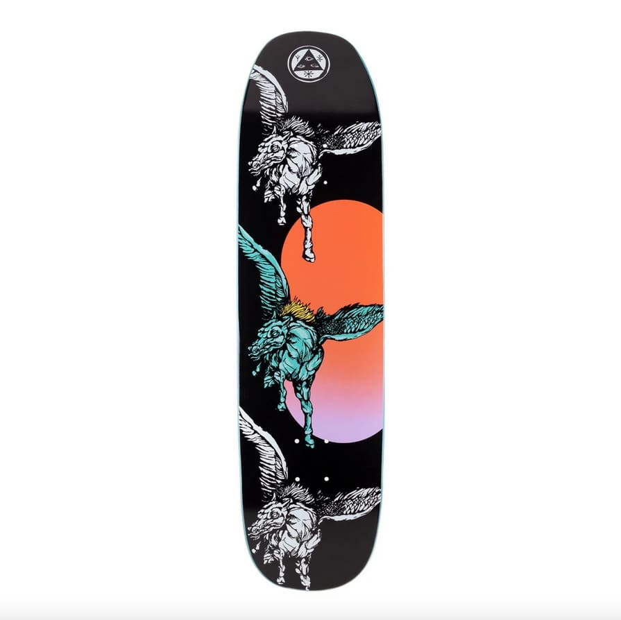 Peggy on Son of Moontrimmer (Black) Deck 8.25 | Deck by Welcome Skateboards 1
