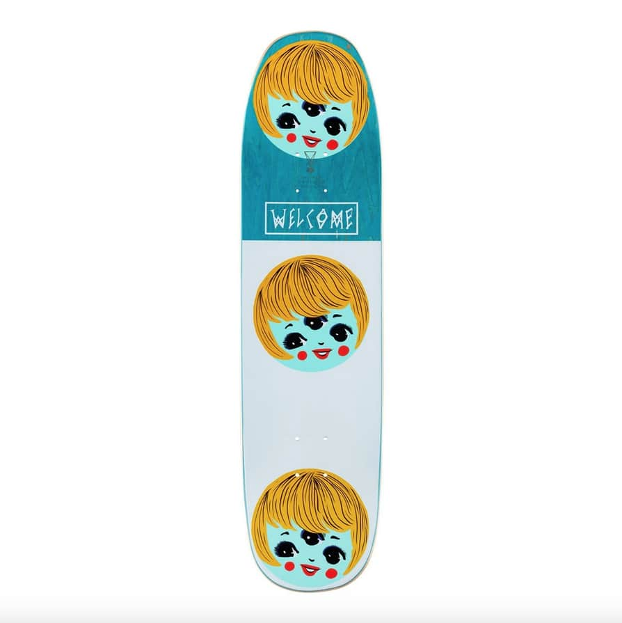 Peggy on Son of Moontrimmer (Black) Deck 8.25 | Deck by Welcome Skateboards 3