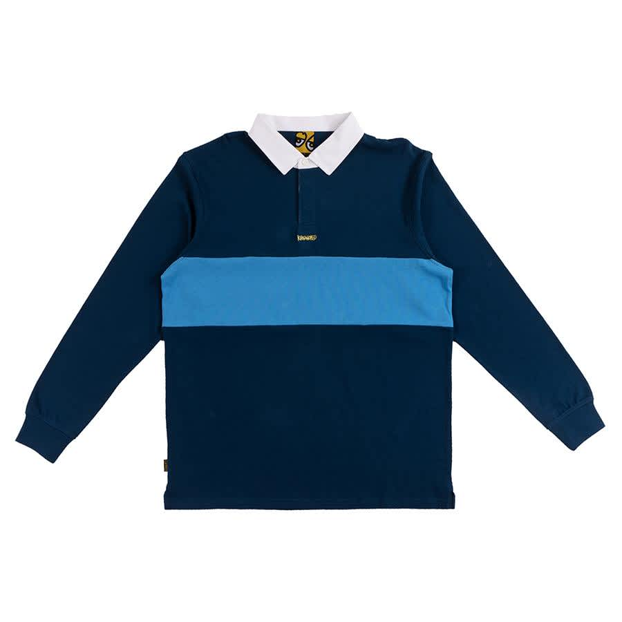 Krooked Skateboards Krooked Eyes Rugby Polo - Navy | Polo Shirt by Krooked Skateboards 1