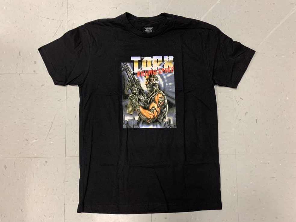 Terror of Planet X Skateboards TOPX Killing Spree Black   T-Shirt by Terror Of Planet X 1