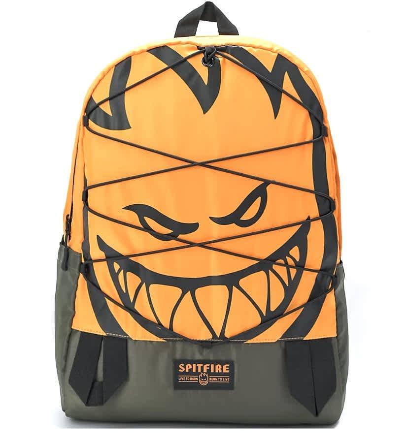 Spitfire Wheels Backpack Bag Bighead Daybag Orange/Olive   Backpack by Spitfire Wheels 1