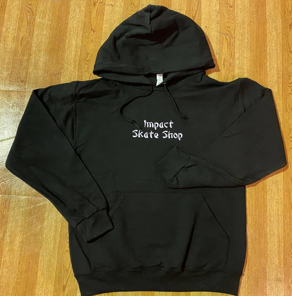 IMPACT Takeout Embroidered Hoodie Black   Hoodie by Impact Skate 1