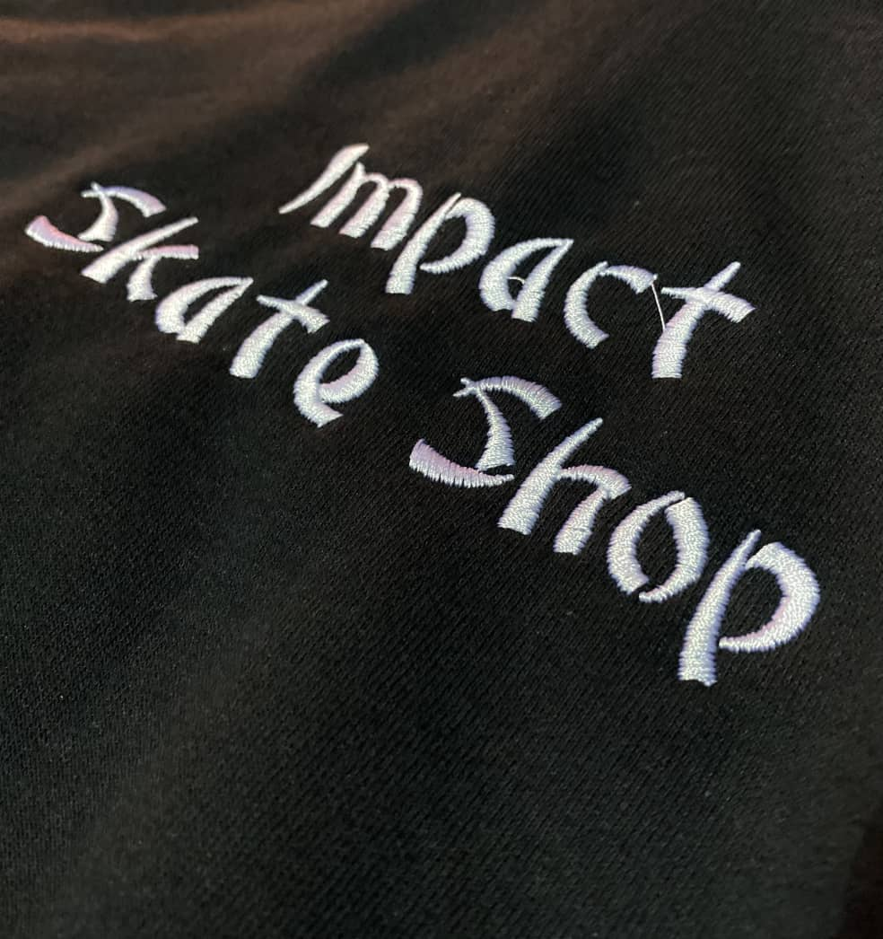 IMPACT Takeout Embroidered Hoodie Black   Hoodie by Impact Skate 2