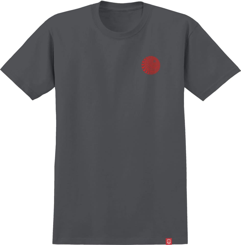 SPITFIRE Skewed Classic Tee Charcoal/Red   T-Shirt by Spitfire Wheels 2