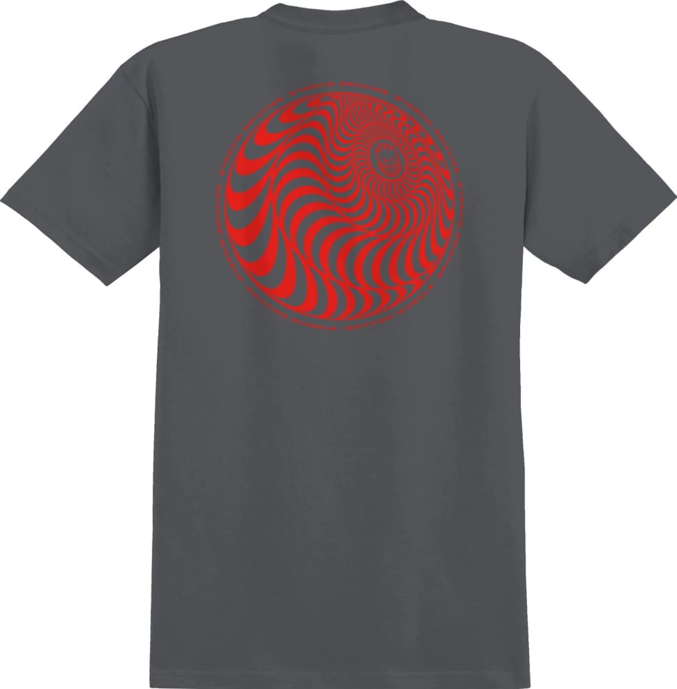 SPITFIRE Skewed Classic Tee Charcoal/Red   T-Shirt by Spitfire Wheels 1