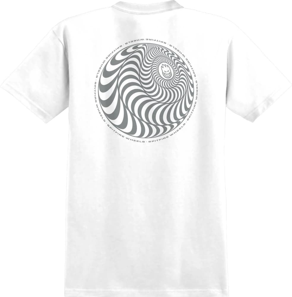 SPITFIRE Skewed Classic Tee White/Metallic | T-Shirt by Spitfire Wheels 1