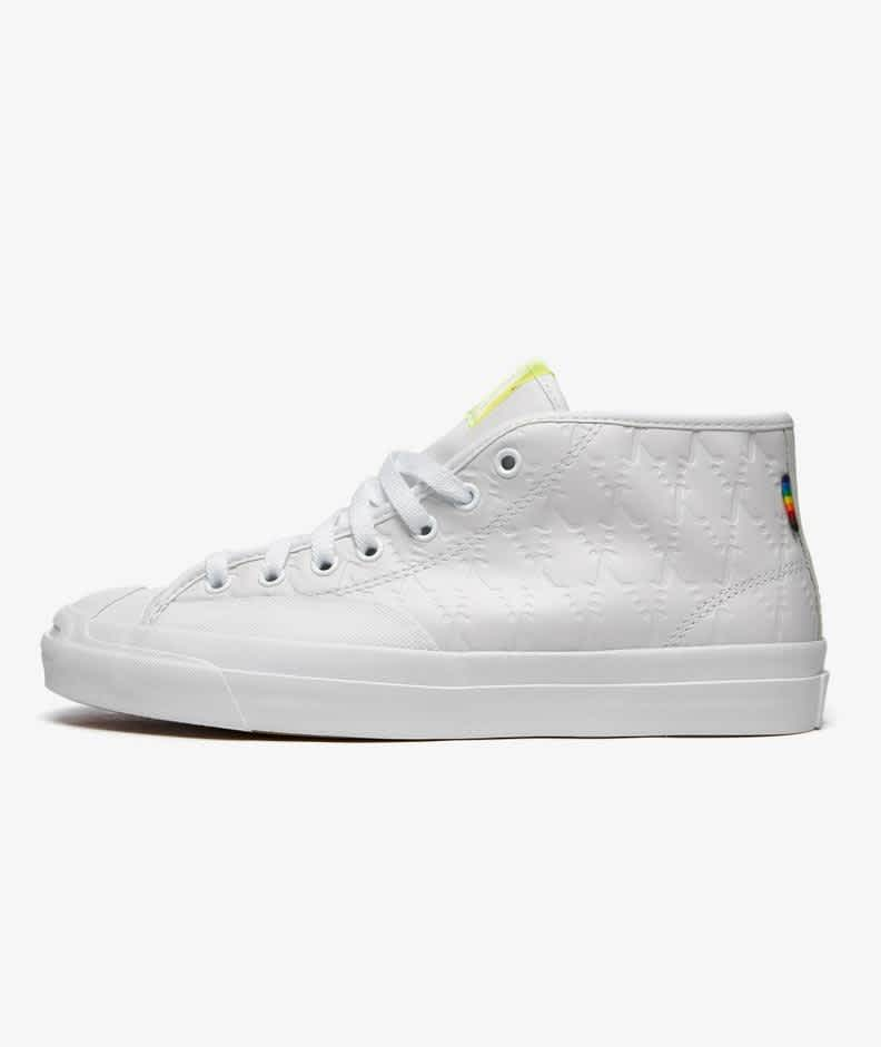 Converse CONS Jack Purcell Pro Mid Alexis Sablone Pride Shoes - White / Chambray Blue / White   Shoes by Converse Cons 2