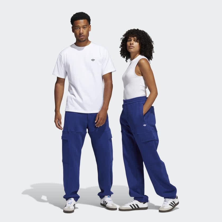 adidas Heavyweight Shmoofoil Utility Joggers - Victory Blue / White | Trousers by adidas Skateboarding 3
