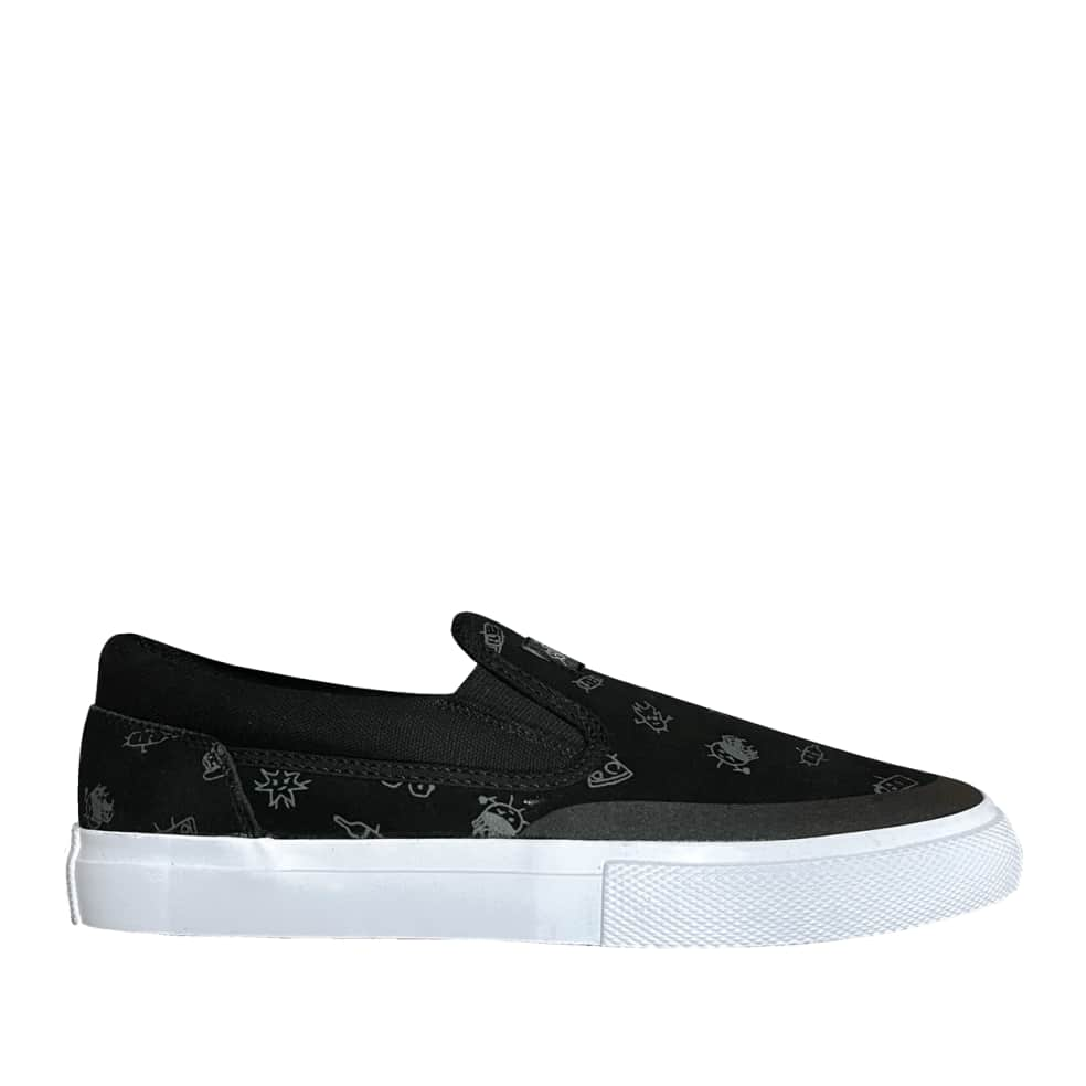 DC Wes Kremer Manual Good Times Slip-On Skate Shoes - Black | Shoes by DC Shoes 1
