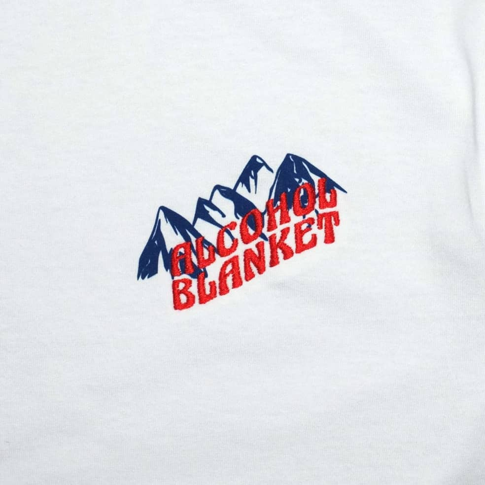 Alcohol Blanket Mountain T-Shirt - White   T-Shirt by Alcohol Blanket 3