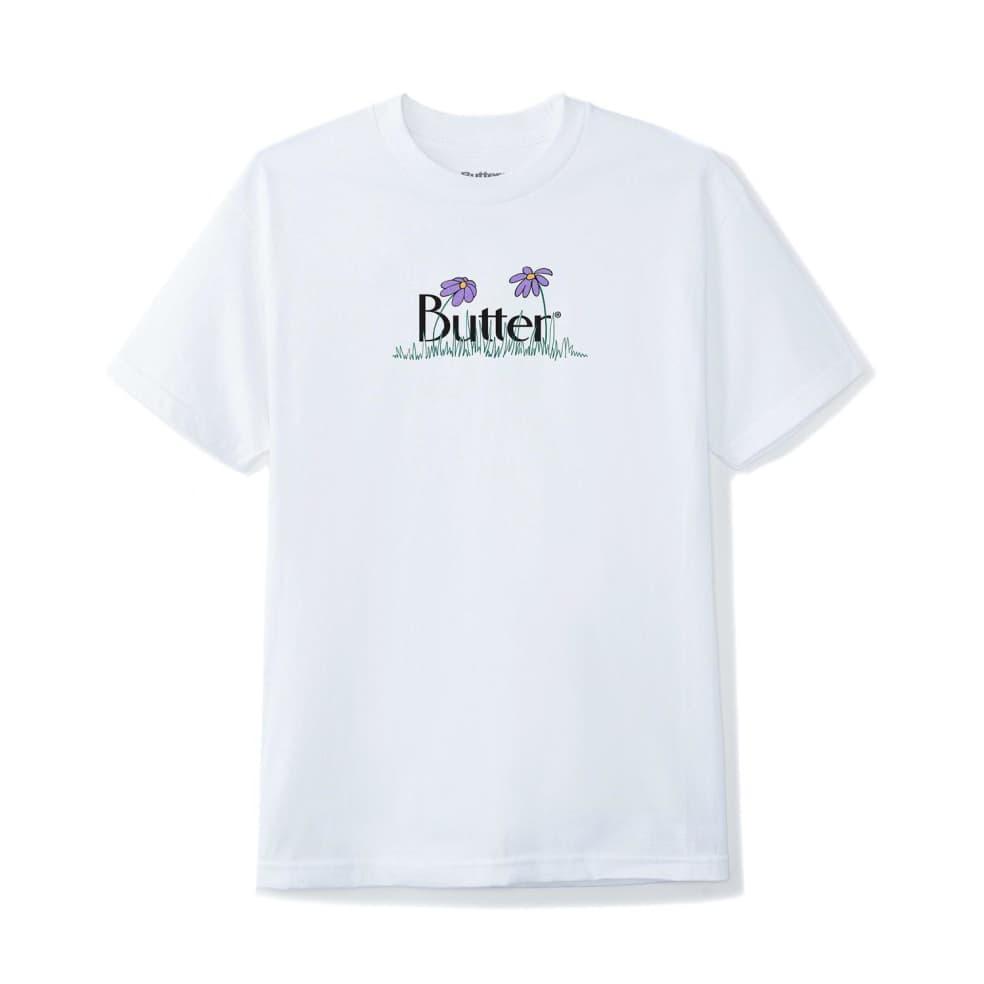 Butter Goods Flowers Classic Logo T-Shirt - White   T-Shirt by Butter Goods 1