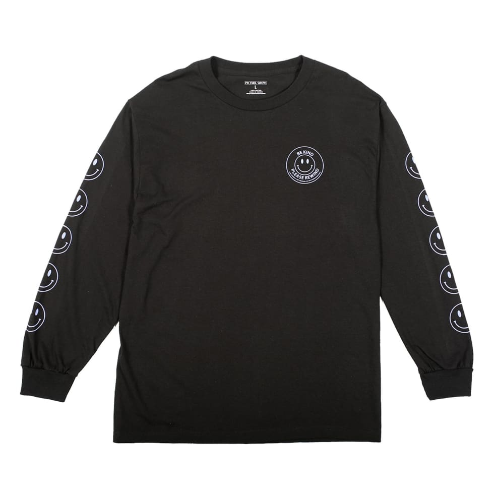 PICTURE SHOW BE KIND L/S TEE - BLACK | Longsleeve by Picture Show Studios 1