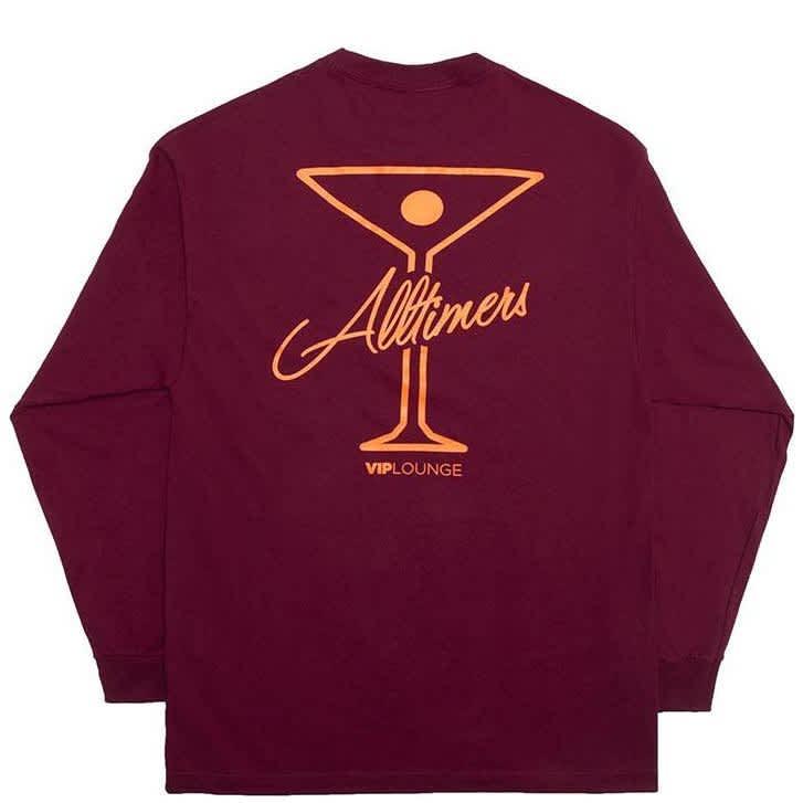 Alltimers League Player Long Sleeve T-Shirt - Burgundy | Longsleeve by Alltimers 1
