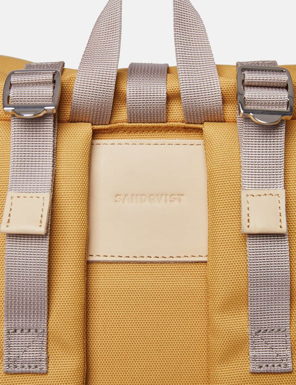 Sandqvist Bernt Backpack - Yellow/Natural Leather | Backpack by Sandqvist 3