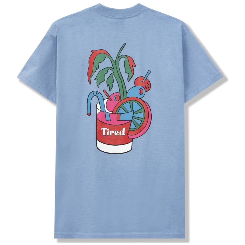 Tired Bloody Tired T-Shirt - Dusty Blue | T-Shirt by Tired Skateboards 1