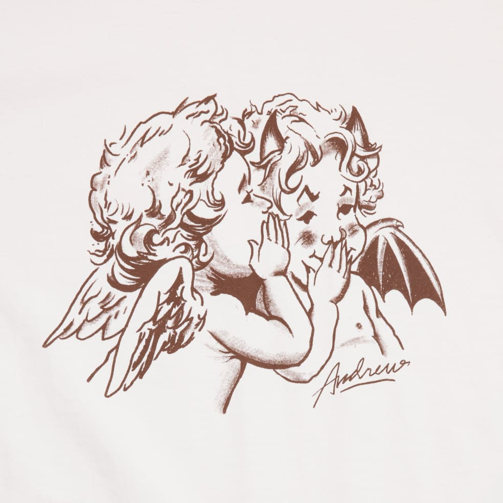 Andrew Good & Evil T-Shirt - Creme   T-Shirt by Andrew 2