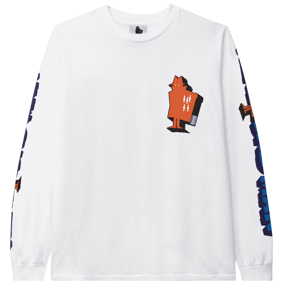 Real Bad Man Graphic Content Long Sleeve T-Shirt - White | Longsleeve by Real Bad Man 1