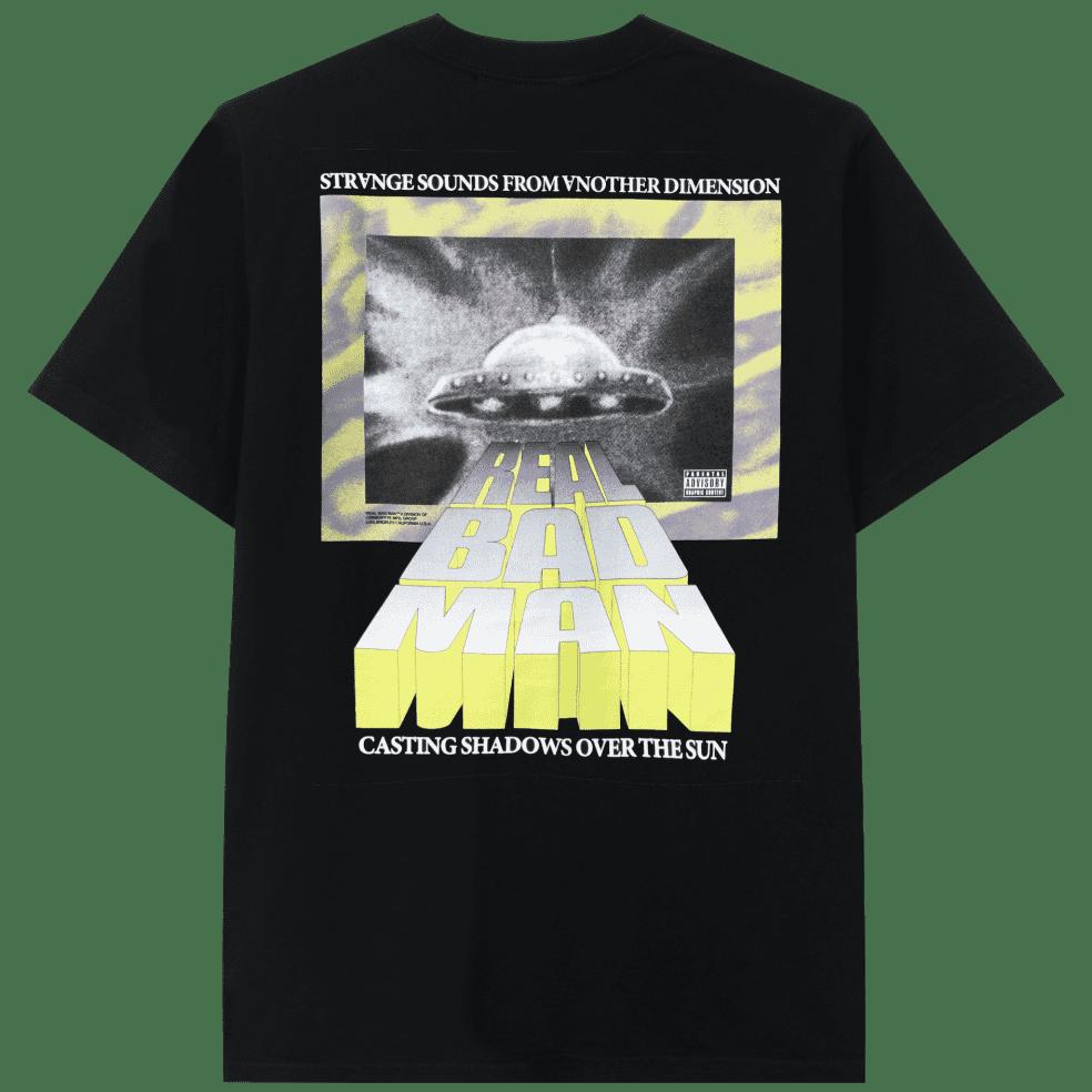 Real Bad Man Strange Sounds Short Sleeve T-shirt - Black | T-Shirt by Real Bad Man 1