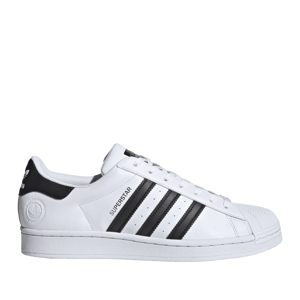 adidas Superstar Vegan Shoes - Cloud White / Core Black / Green   Shoes by adidas Skateboarding 1