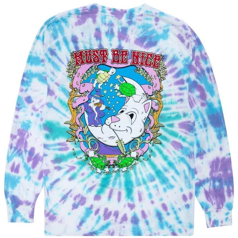 Ripndip Wizard Tie Dye Long Sleeve T-Shirt - Multi | Longsleeve by Ripndip 1