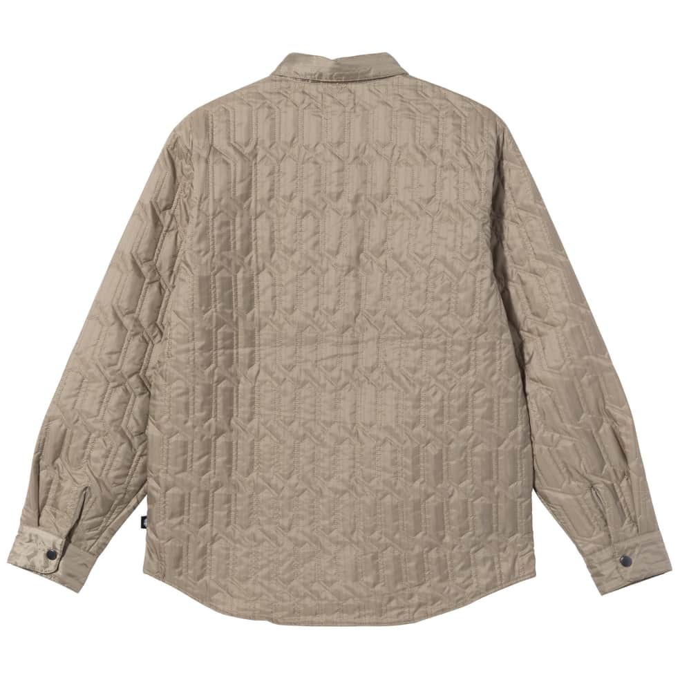 Stüssy Quilted Insulated Long Sleeve Shirt - Beige | Shirt by Stüssy 2