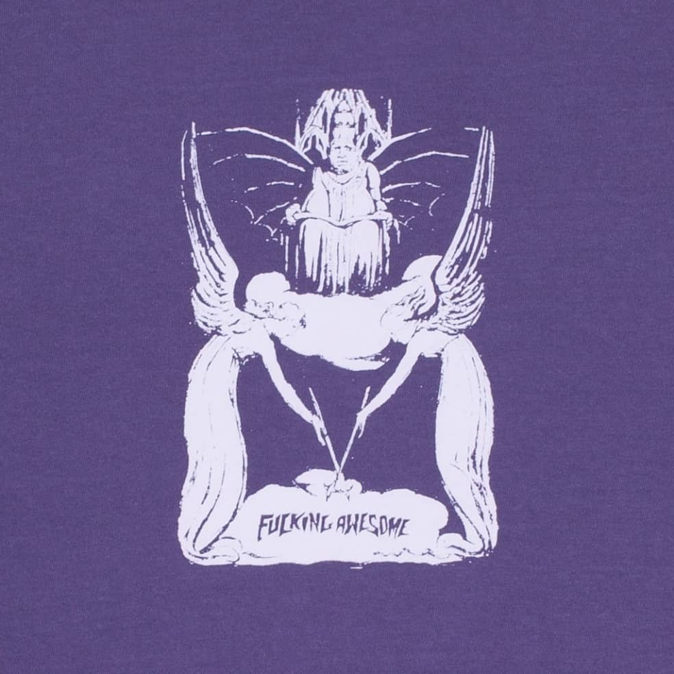Fucking Awesome Angel Wand T-Shirt - Violet   T-Shirt by Fucking Awesome 2