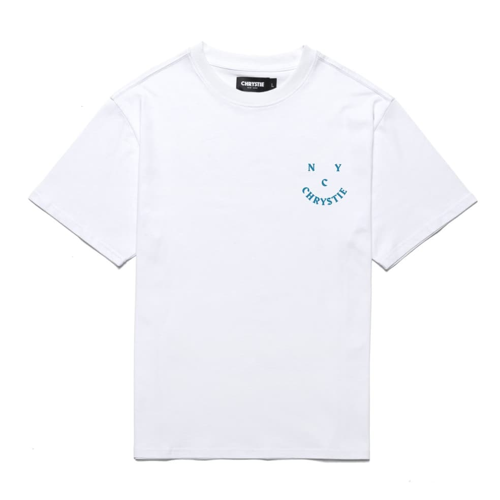Chrystie NYC Smile Logo T-Shirt - White | T-Shirt by Chrystie NYC 2