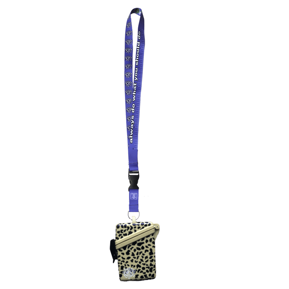 always do what you should do - leopard lanyard case | Giftables by always do what you should do 3